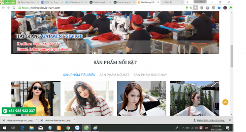 Thiết Kế Website Công ty May Mặc